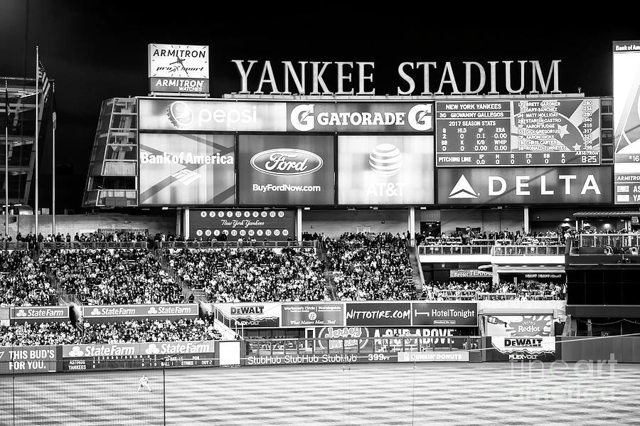 Yankee Stadium Left Field by John Rizzuto