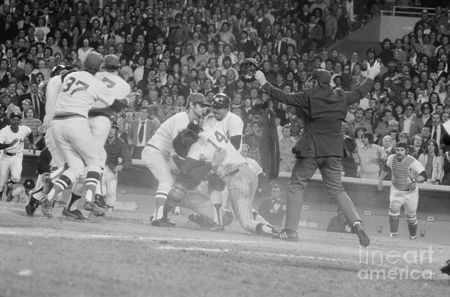 Yankees And Red Sox Players In Scuffle Photograph by Bettmann