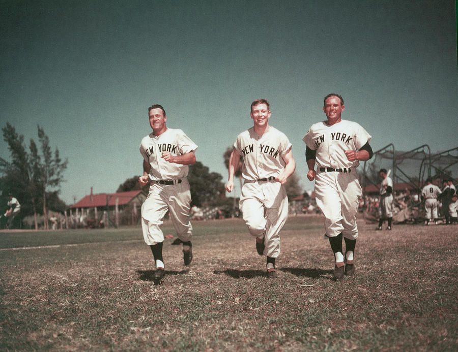 Yankees Outfield Photograph by Hulton Archive
