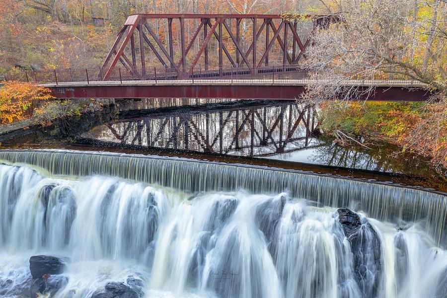 Yantic Falls In Fall by Michael Hughes