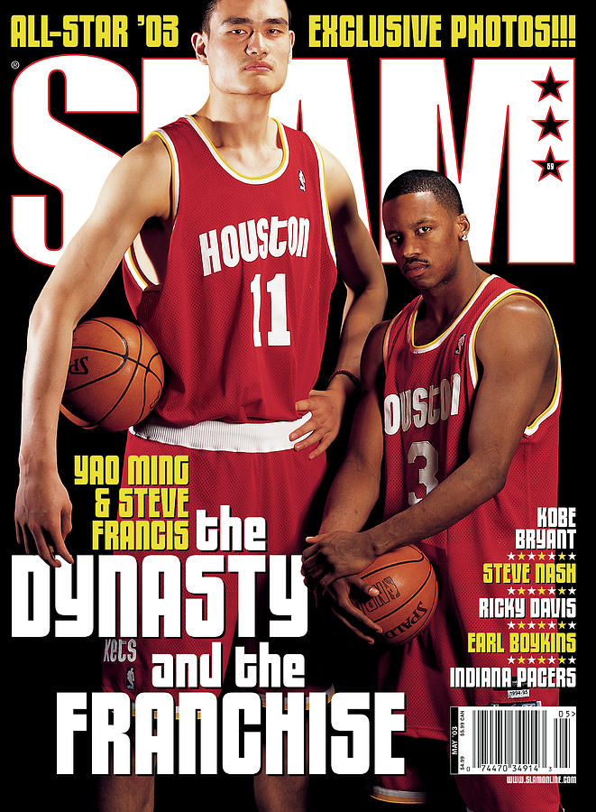 Yao Ming & Steve Francis: The Dynasty and The Franchise SLAM Cover Photograph by Atiba Jefferson
