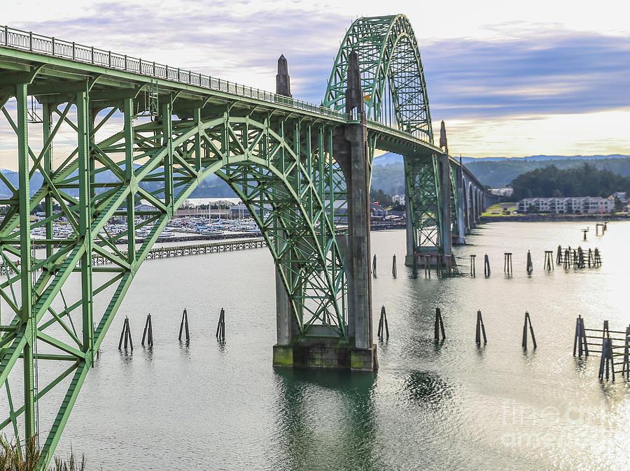 Oregon Photograph - Yaquina Bay Bridge, Oregon by Eddie Hernandez
