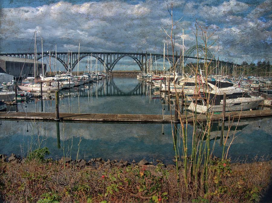 Yaquina Bay Bridge Reflections by Thom Zehrfeld