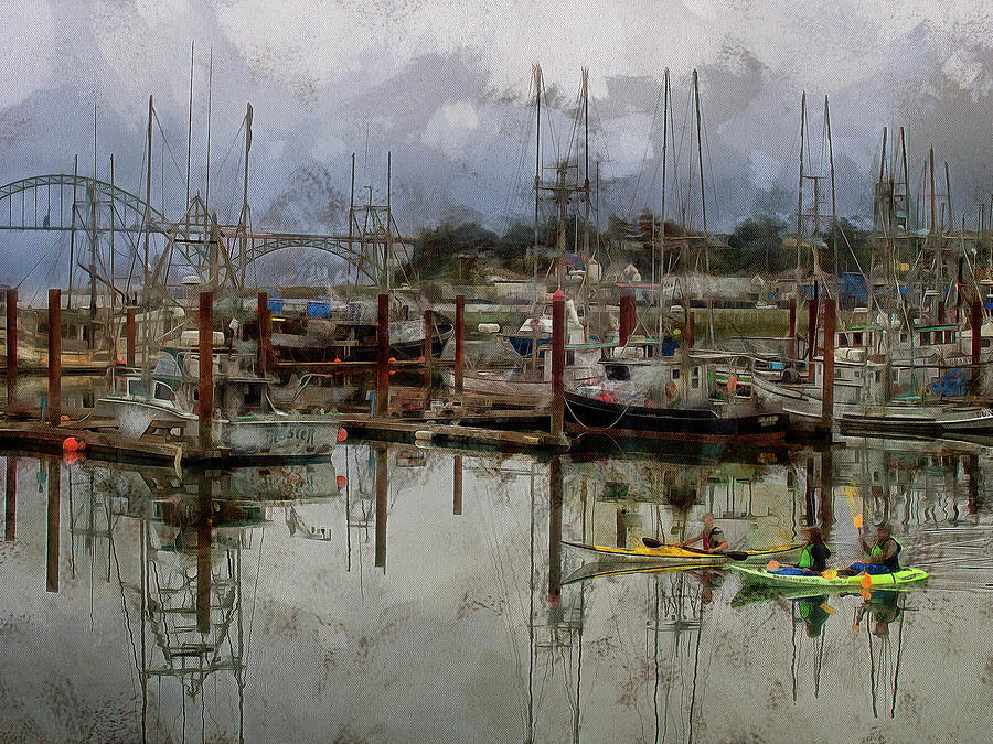 Yaquina Bay Kayaking by Thom Zehrfeld