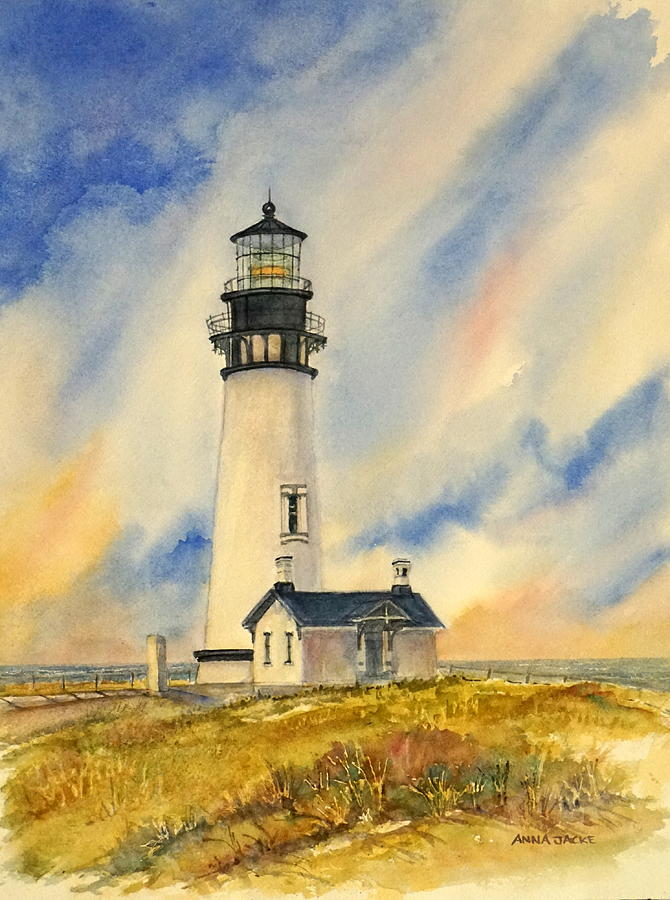 Yaquina Head - Late Afternoon Sunlight by Anna Jacke