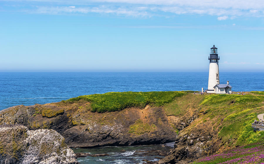 Yaquina Head Lighthouse From Lighthouse Trail by Marv Vandehey