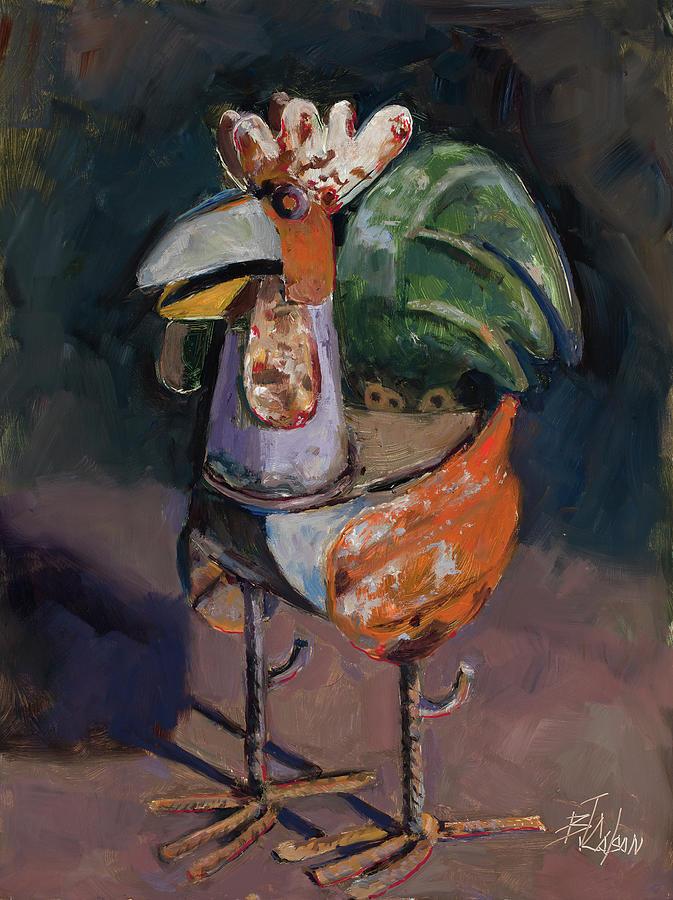 923b9cb91 Yard Bird Painting by Billie Colson