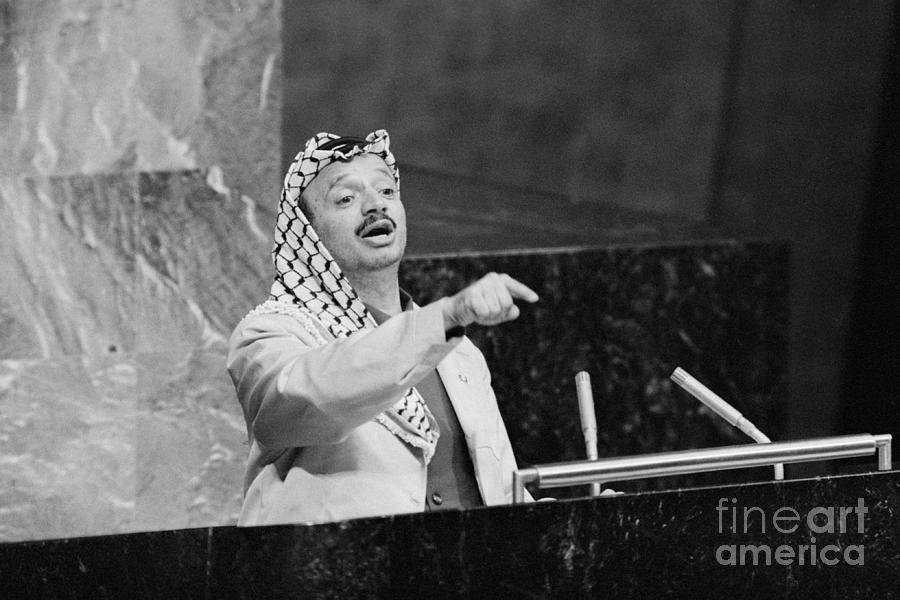 Yasser Arafat Addresses The Un General Photograph by Bettmann