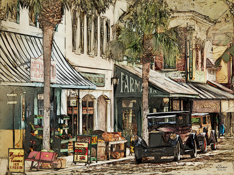 Movie Photograph - Ybor City Movie Set by Jim Ziemer