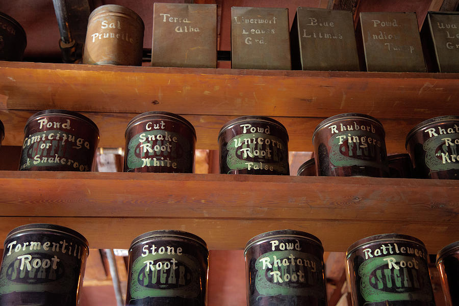 Pharmacy Photograph - Ye Olde Time Pharmaceuticals by Lora J Wilson