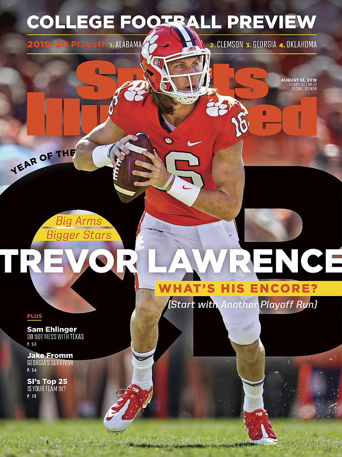 Year Of The Qb Clemson University Trevor Lawrence, 2019 Sports Illustrated Cover Photograph by Sports Illustrated