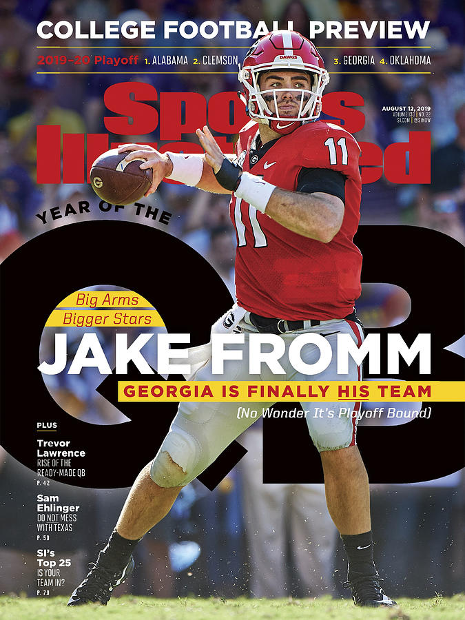 Year Of The Qb University Of Georgia Jake Fromm, 2019 Sports Illustrated Cover Photograph by Sports Illustrated