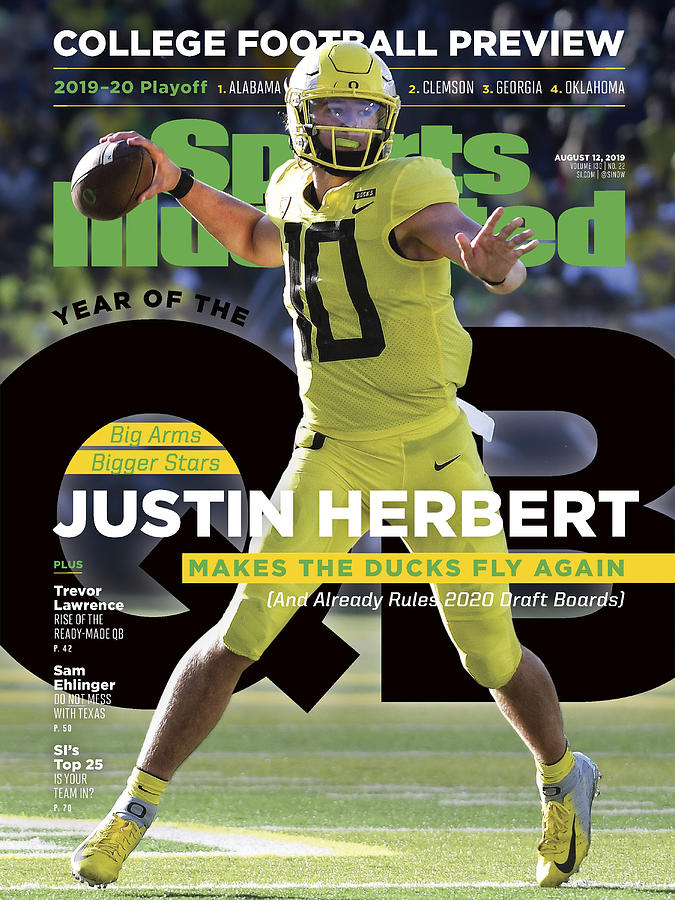 Year Of The Qb University Of Oregon Justin Herbert, 2019 Sports Illustrated Cover Photograph by Sports Illustrated