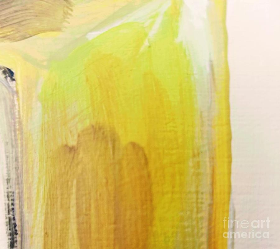 Abstract Painting - Yellow #3 by Maria Langgle
