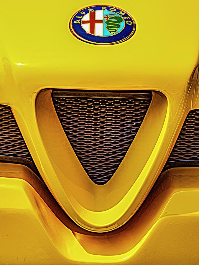 Yellow Alfa Romeo by Paul Wear