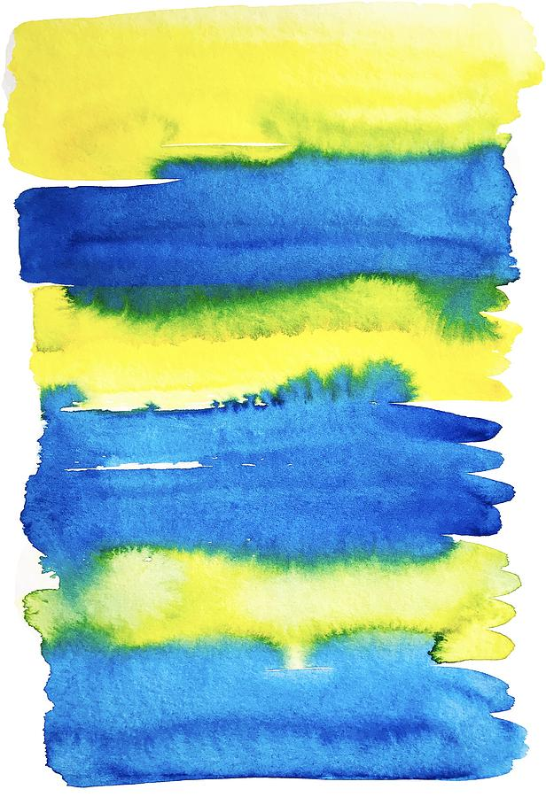yellow-and-blue-brush-stroke-stripes-in-