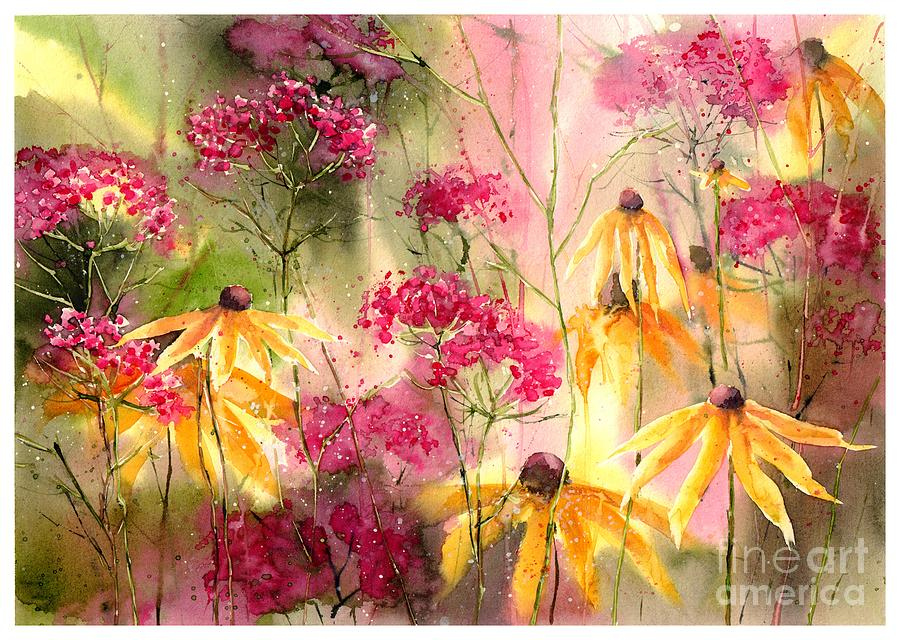 Floral Painting - Yellow Ballerinas by Suzann Sines