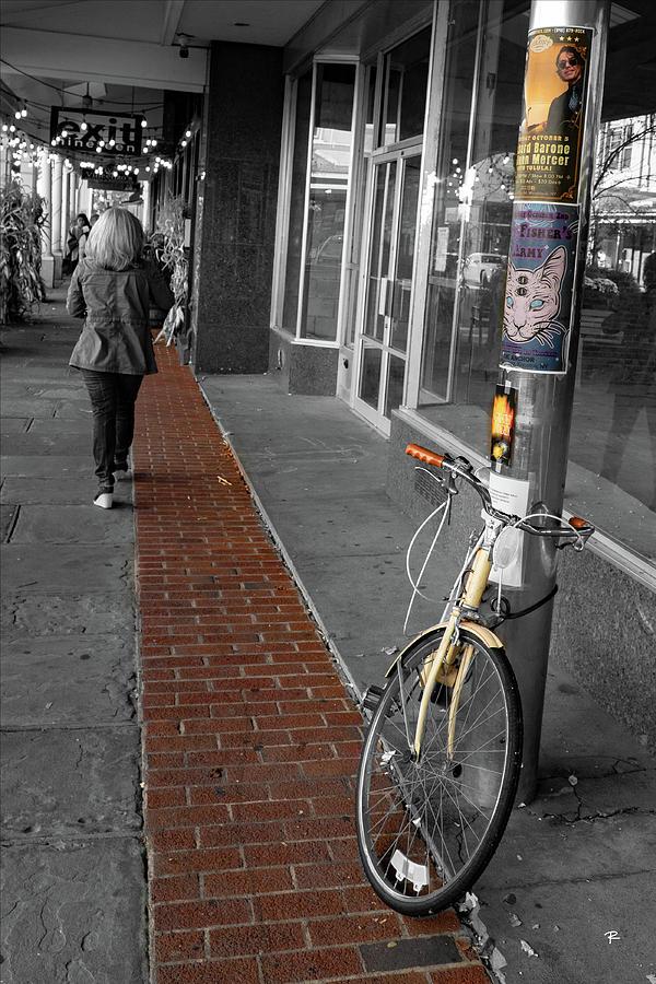 Yellow Bike on Red Path by Tom Romeo