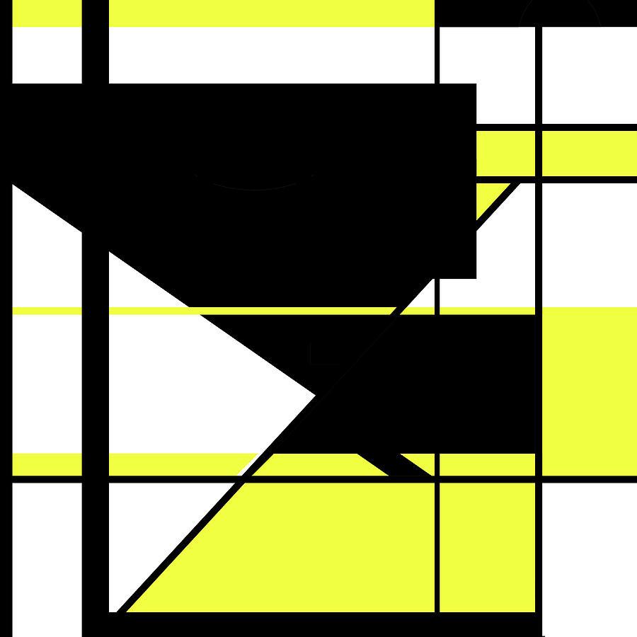 Yellow Black 002 by Elastic Pixels