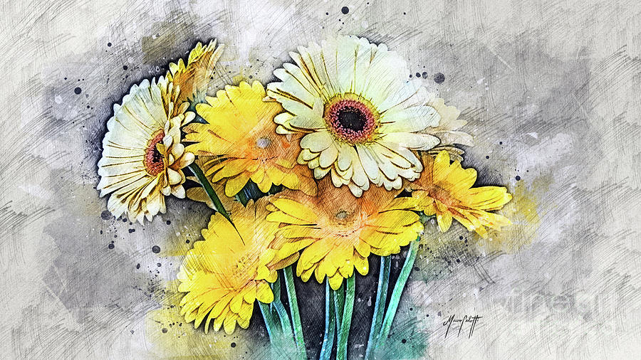 Yellow Daisies 1  by Mauro Celotti