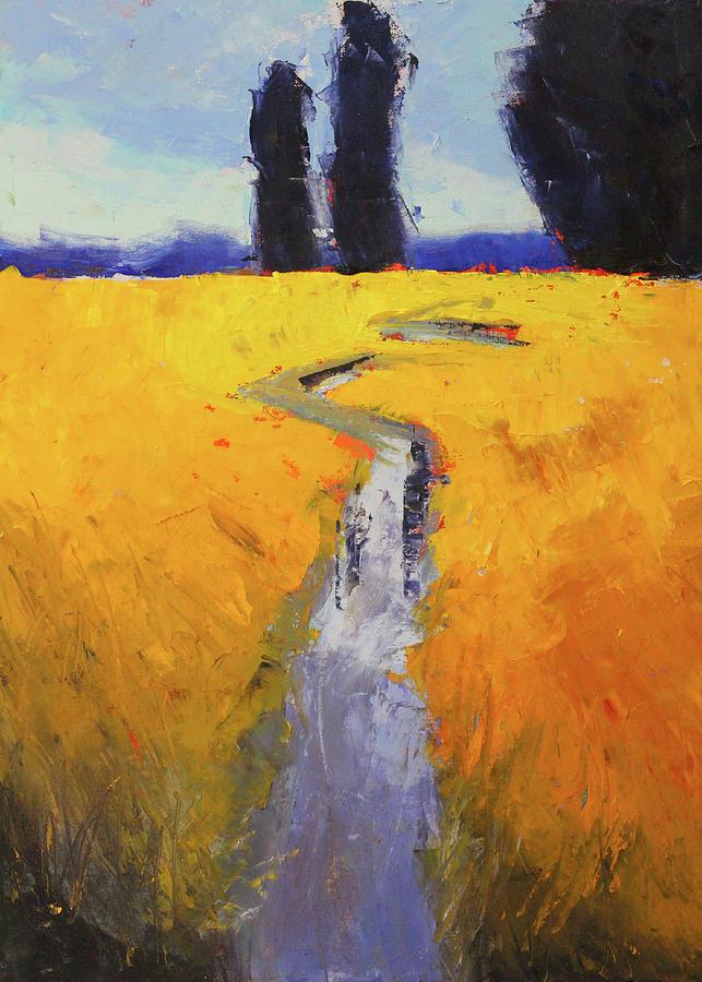 Yellow Field by Nancy Merkle