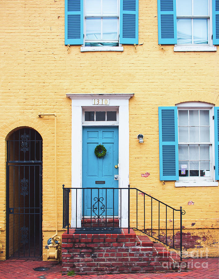Yellow Georgetown House by Sonja Quintero