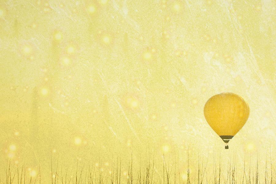Yellow Hot Air Balloon Photograph by Susan.k.