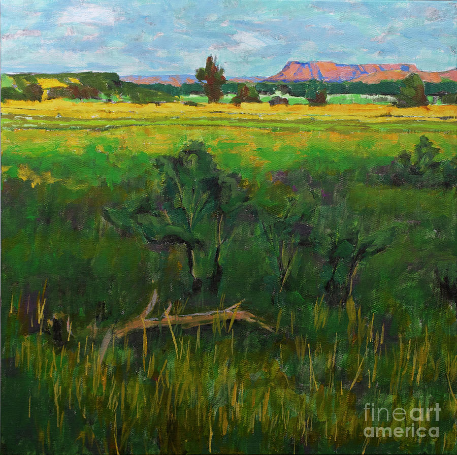 Yellow Painting - Yellow House Canyon by Hilton McLaurin
