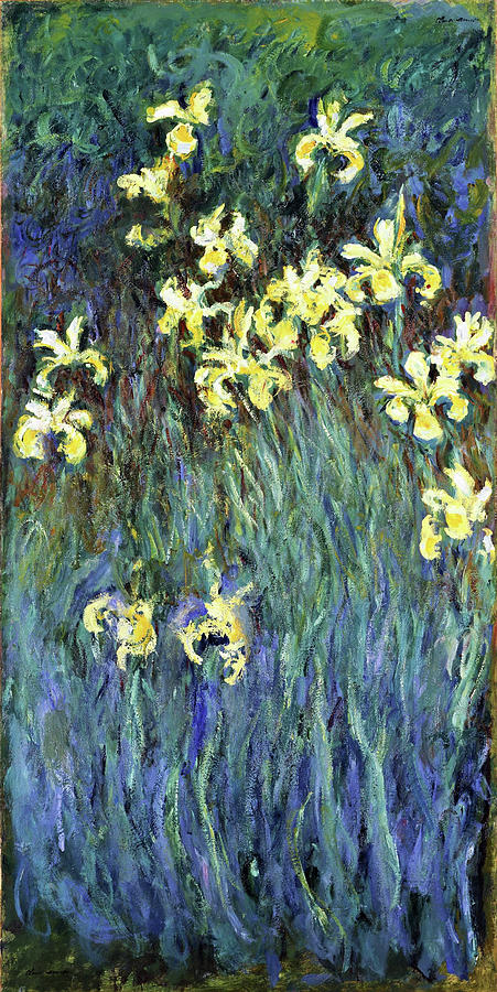 Claude Monet Painting - Yellow Irises - Digital Remastered Edition by Claude Monet