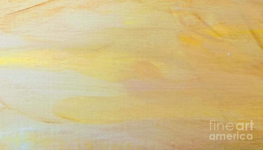 Abstract Painting - Yellow by Maria Langgle