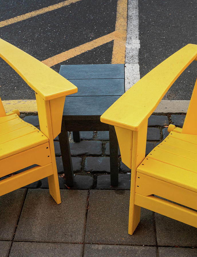 Yellow Meets Yellow At Curbside by Gary Slawsky
