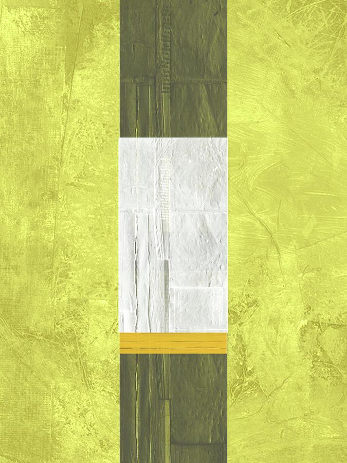 Abstract Painting - Yellow Mist II by Naxart Studio