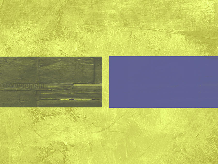 Abstract Painting - Yellow Mist IIi by Naxart Studio