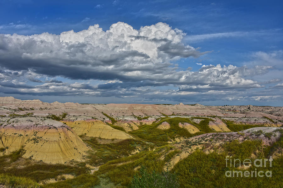 Yellow Mounds Panorama by Catherine Sherman