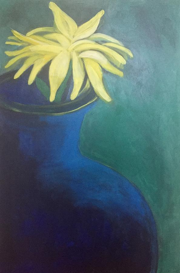 Yellow on Blue by Cherylene Henderson