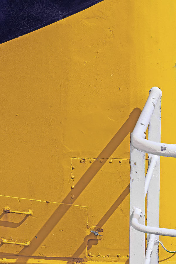 Harbour Photograph - Yellow by Rainer Stark