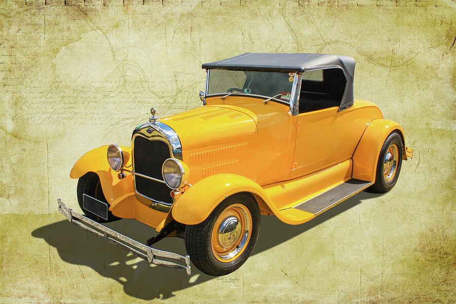 Yellow Roadster by Keith Hawley