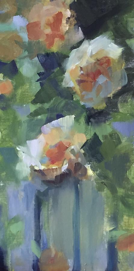 Yellow Roses Painting by Karen Jordan