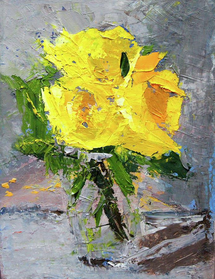Yellow Roses by Nancy Merkle