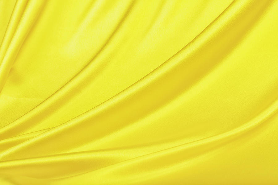 Yellow Satin Background Photograph by Cinoby