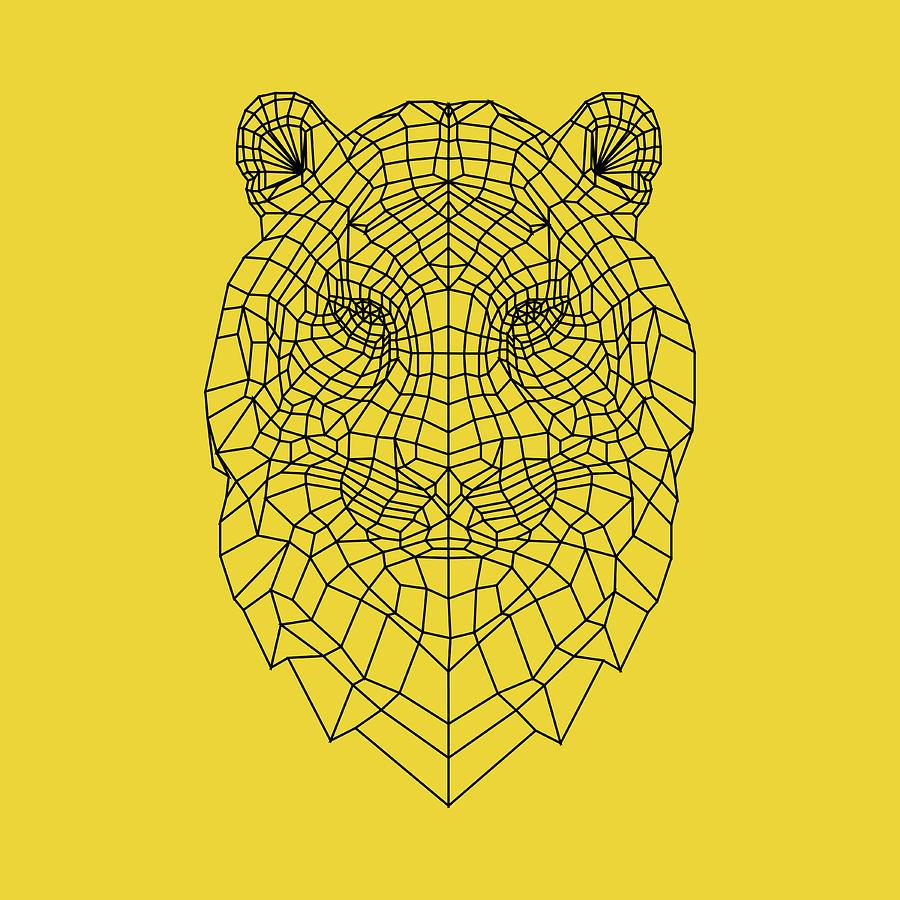 Tiger Digital Art - Yellow Tiger by Naxart Studio