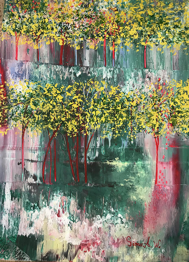 Yellow Trees #2 by Sima Amid Wewetzer