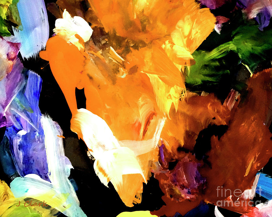 Abstract Painting - Yellow Triangle by John Clark
