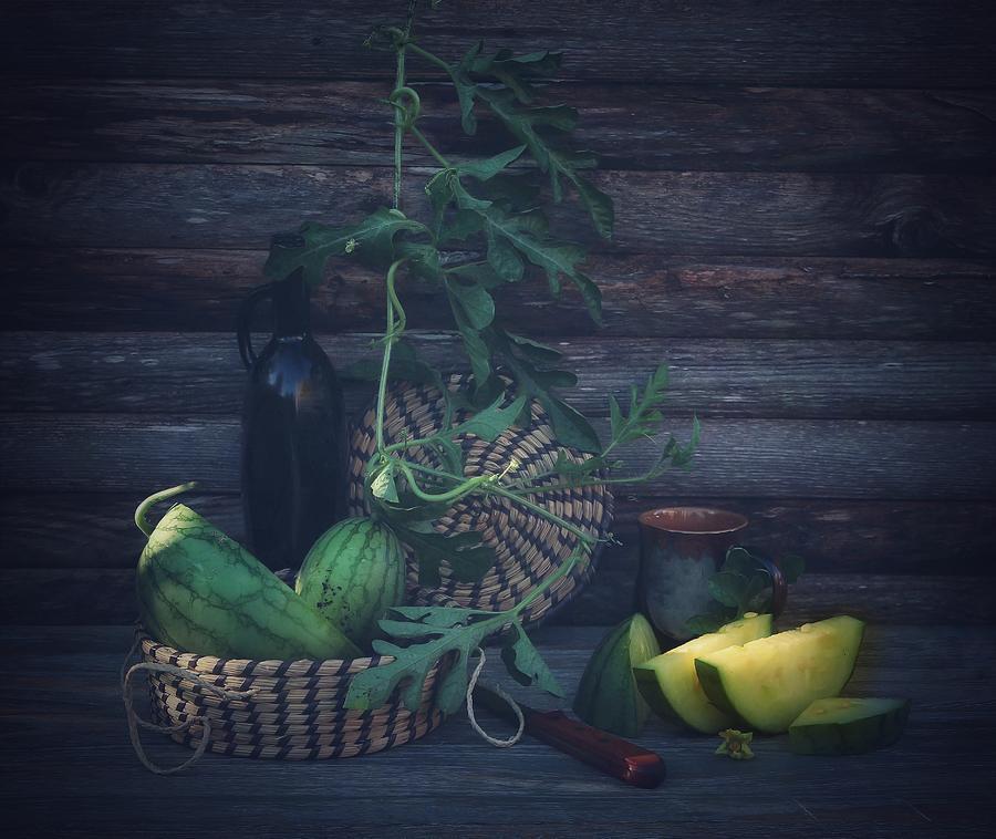 Watermelon Photograph - Yellow Watermelon by Fangping Zhou