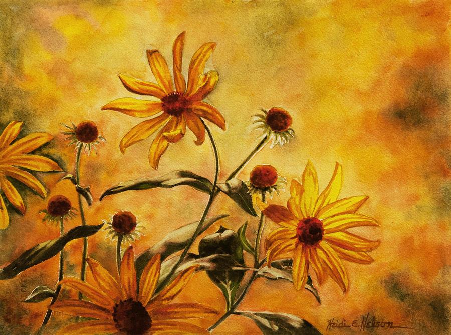 Yellow Wild Flowers by Heidi E Nelson