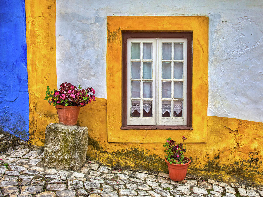 Yellow Window of Obidos by David Letts