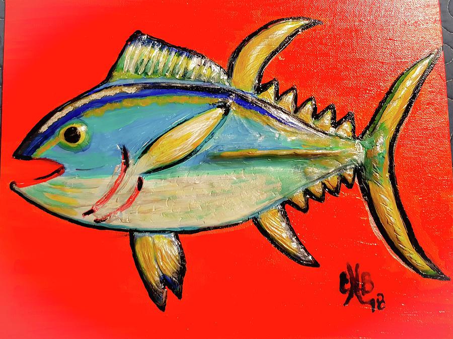 Yellowfin Tuna Mixed Media