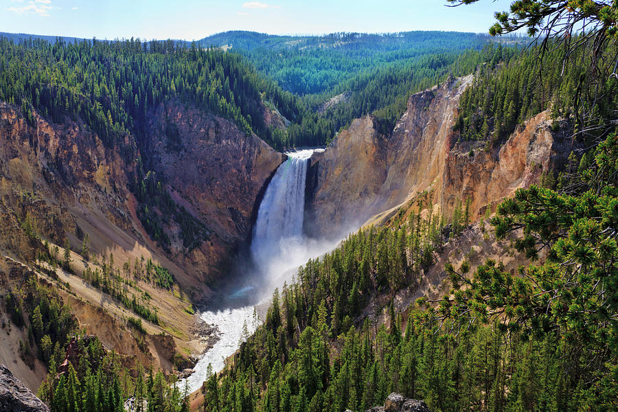 Yellowstone Falls River, Grand Canyon Photograph by Dszc