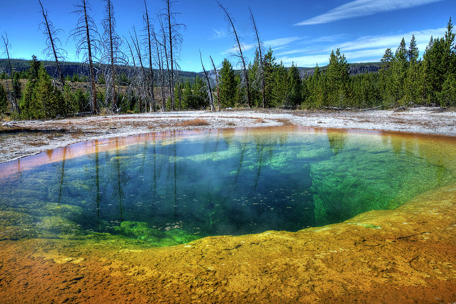 Yellowstone Hot Spring Photograph by Dbushue Photography
