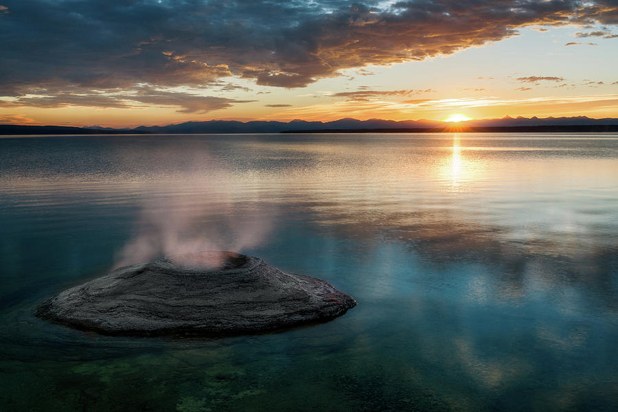Yellowstone Lake Sunrise by John Hight